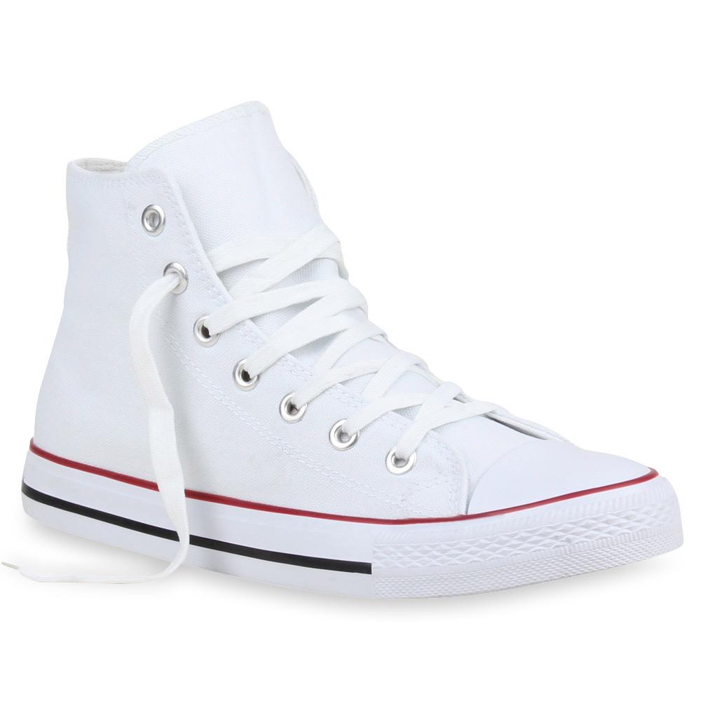 Herren Sneaker high - Weiß Rot