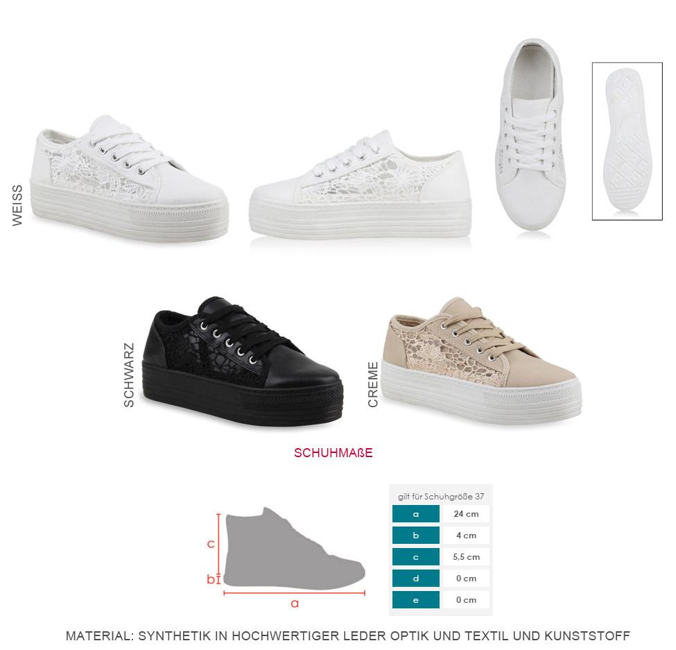 reputable site 52a21 38c63 Details zu Damen Plateau Sneakers Sportschuhe Spitze Schnürer 90's Style  75662 Trendy