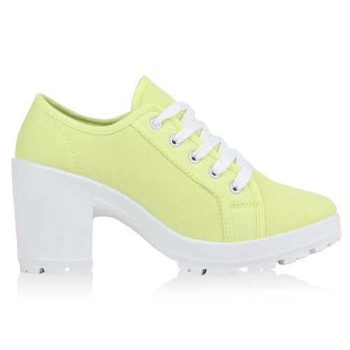 Damen Stiefeletten Ankle Boots - Gelb