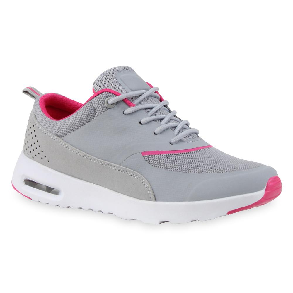 Damen Sportschuhe Laufschuhe - Hellgrau Pink