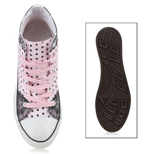 Damen Sneaker high - Rosa Schwarz