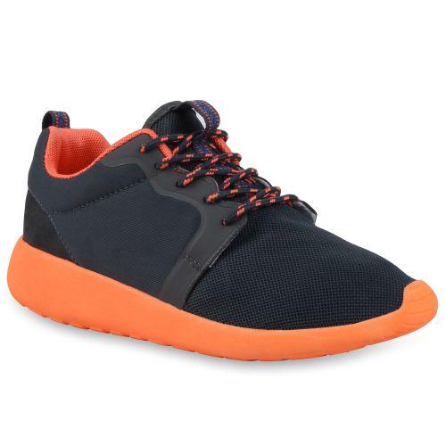 Damen Sportschuhe Laufschuhe - Dunkelgrau Orange