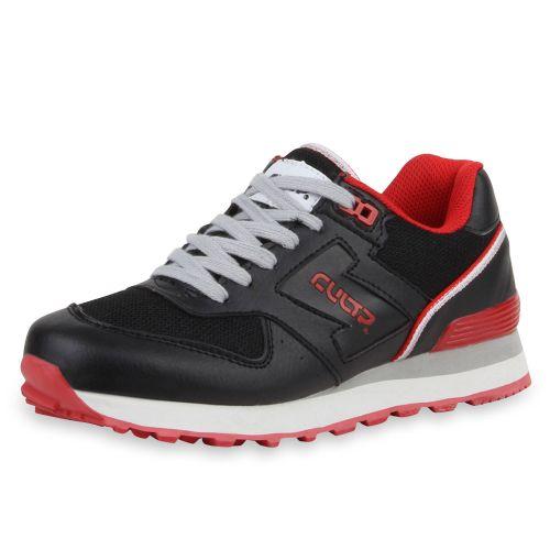 Damen Sportschuhe Laufschuhe - Schwarz Rot