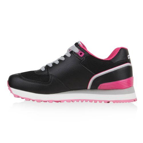 Damen Sportschuhe Laufschuhe - Schwarz Pink