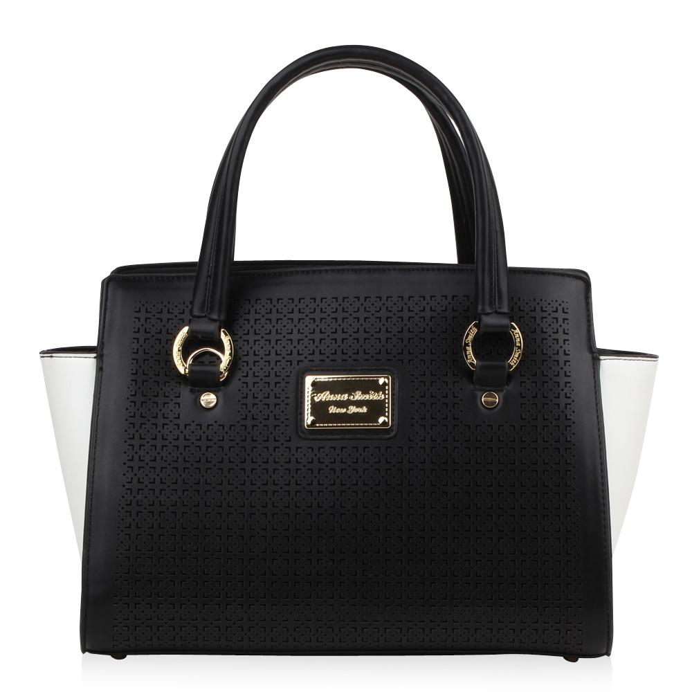 6c9b7c4a71b41 Damen Handtasche in Schwarz Weiß für nur 0
