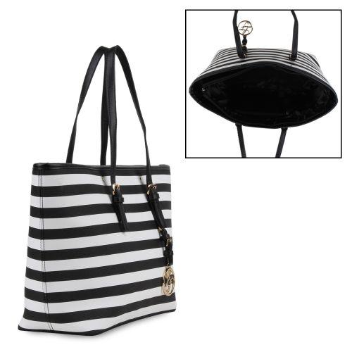 Damen Shopper - Schwarz Weiß
