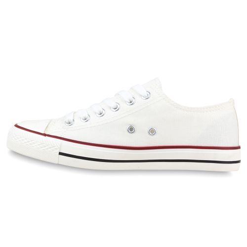 Herren Sneaker low - Weiß Rot