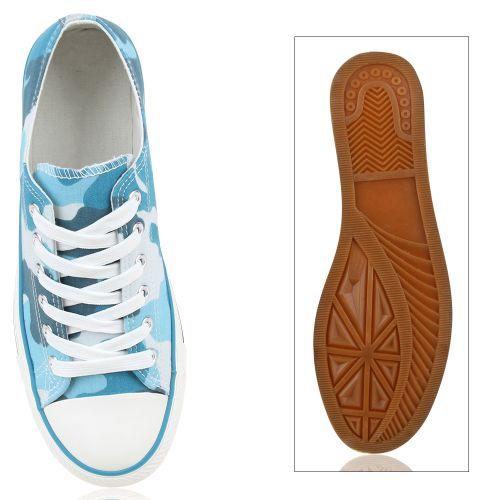 Herren Sneaker low - Camouflage Blau
