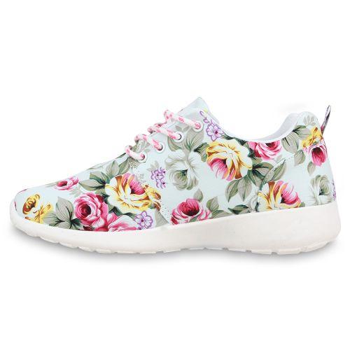 Damen Sportschuhe Laufschuhe - Weiß Muster