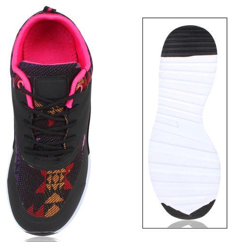 Damen Sportschuhe Laufschuhe - Schwarz Muster