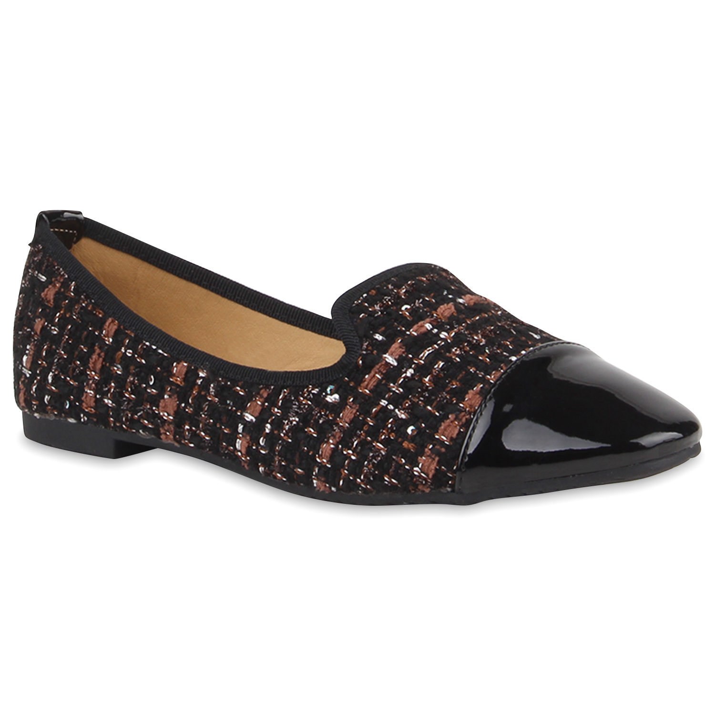 Damen Slippers Loafers - Braun