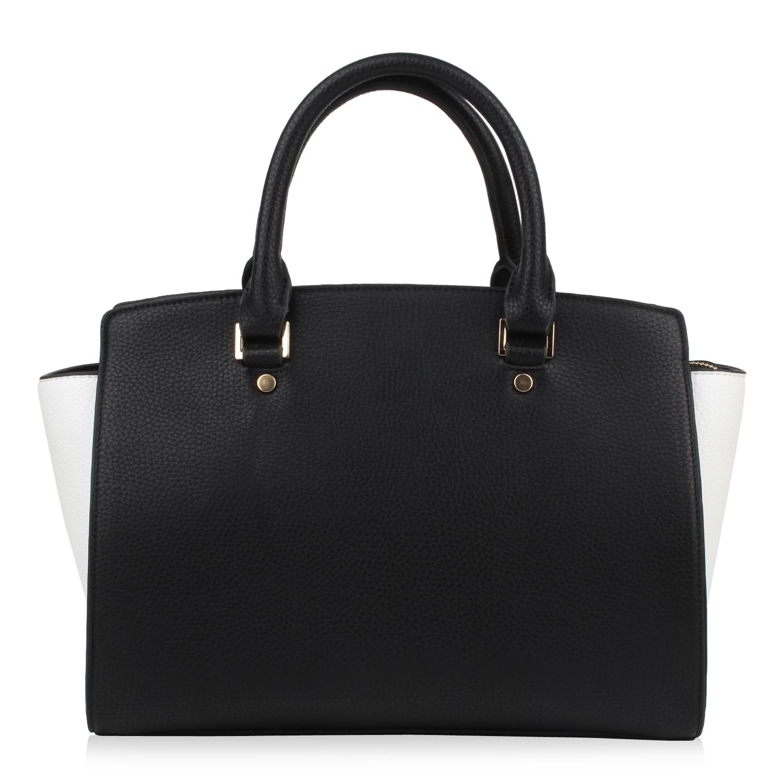Damen Handtasche - Schwarz Weiß