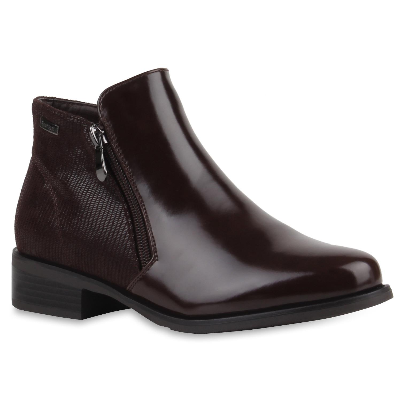 Damen Stiefeletten Ankle Boots - Braun - Somerset
