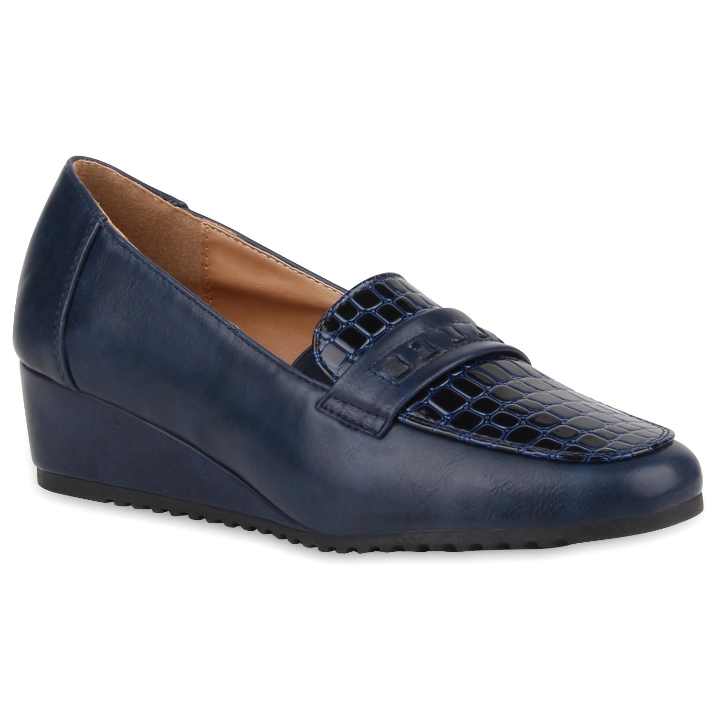 Damen Keilslippers - Blau
