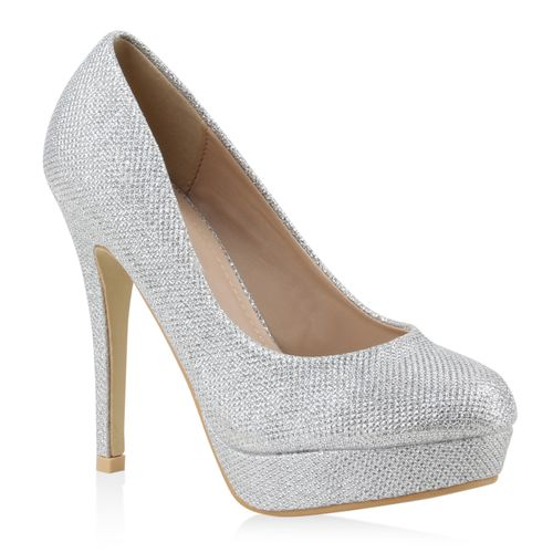 Damen Plateau Pumps - Silber