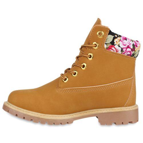 Damen Stiefeletten Worker Boots - Muster