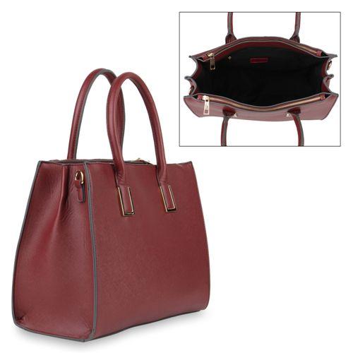 Damen Handtaschen | Shopper - Burgund