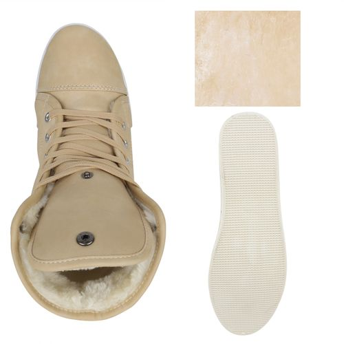 Damen Sneaker high - Creme