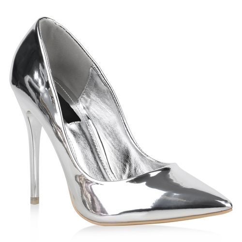 dfbe5bc88b8107 Damen Pumps in Silber (892084-526) - stiefelparadies.de