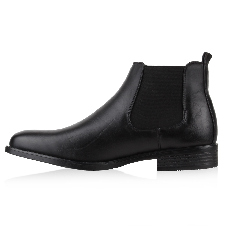 30eac66df79dee Warm Gefütterte Herren Chelsea Boots Leder-Optik 78691 Schuhe