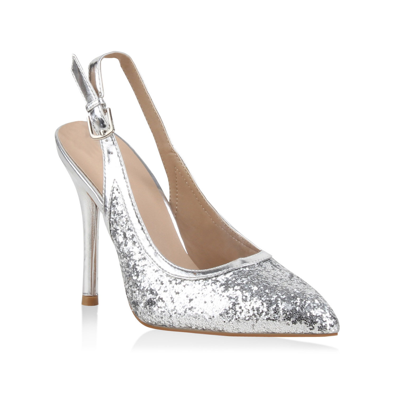 Damen Pumps Slingpumps - Silber