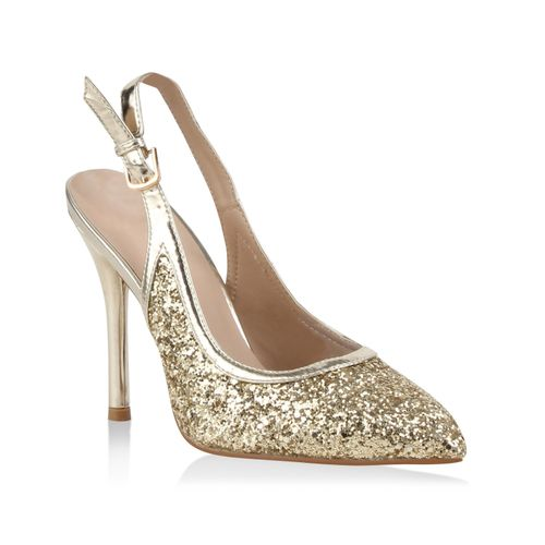 6cfcd6d3b33410 Damen Pumps in Gold (78706-155) - stiefelparadies.de