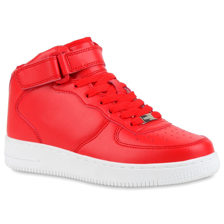 Damen Sportschuhe Basketballschuhe - Rot Weiß
