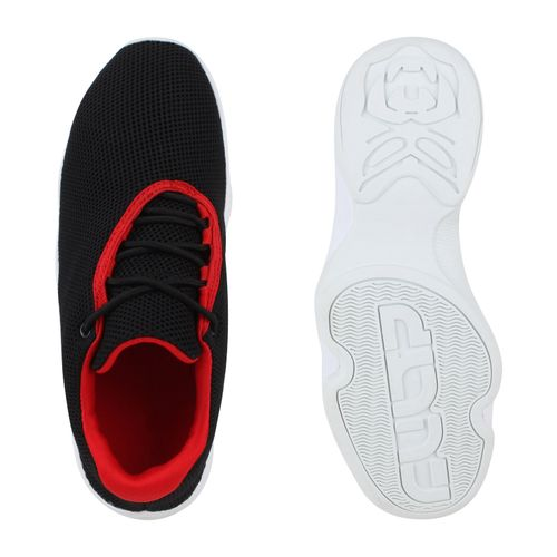 Herren Sportschuhe Laufschuhe - Schwarz Weiß Rot