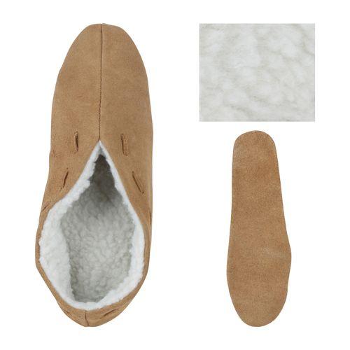 Billige Schuhe Herren Hausschuhe Pantoffeln Hellbraun