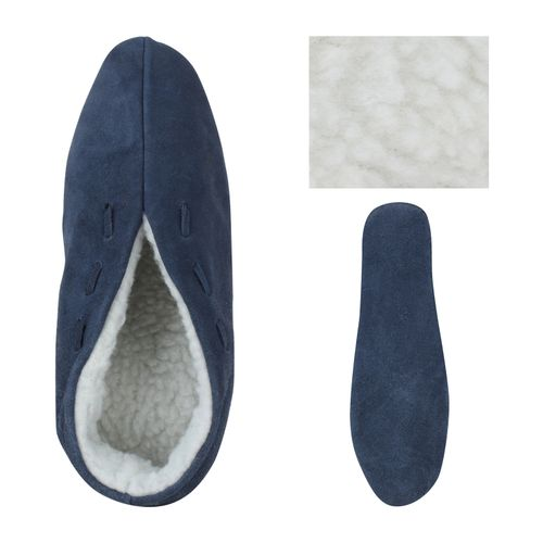 Herren Hausschuhe Pantoffeln - Dunkelblau