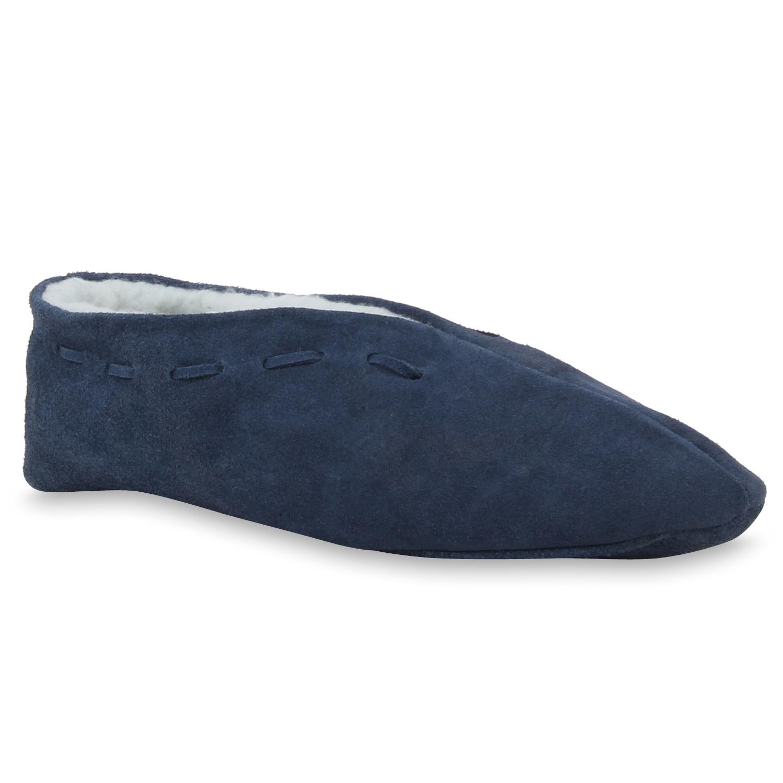 Hausschuhe - Herren Hausschuhe Pantoffeln Dunkelblau › stiefelparadies.de  - Onlineshop Stiefelparadies