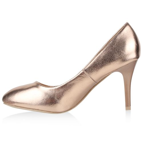 Damen Klassische Damen Pumps Klassische Bronze Pumps r0qr4x6