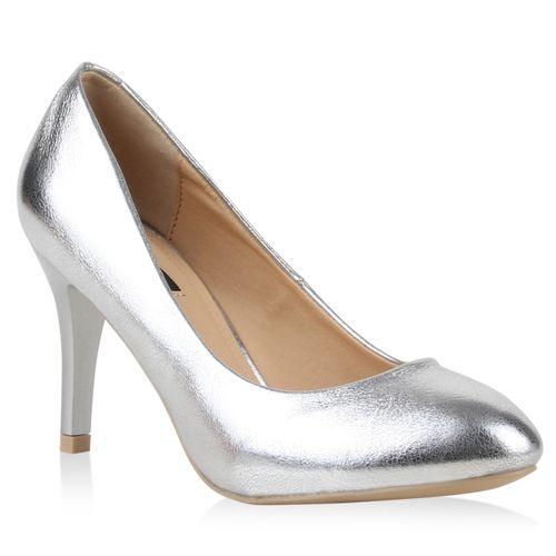 Damen Klassische Pumps - Silber