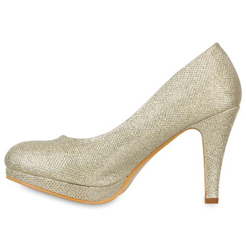 Damen Pumps High Heels - Gold