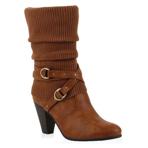 Damen Klassische Stiefel - Hellbraun