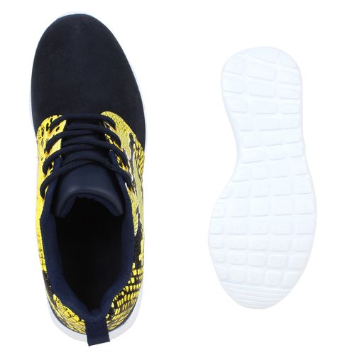Damen Sportschuhe Laufschuhe - Dunkelblau Gelb