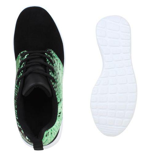 Damen Sportschuhe Laufschuhe - Schwarz Grün