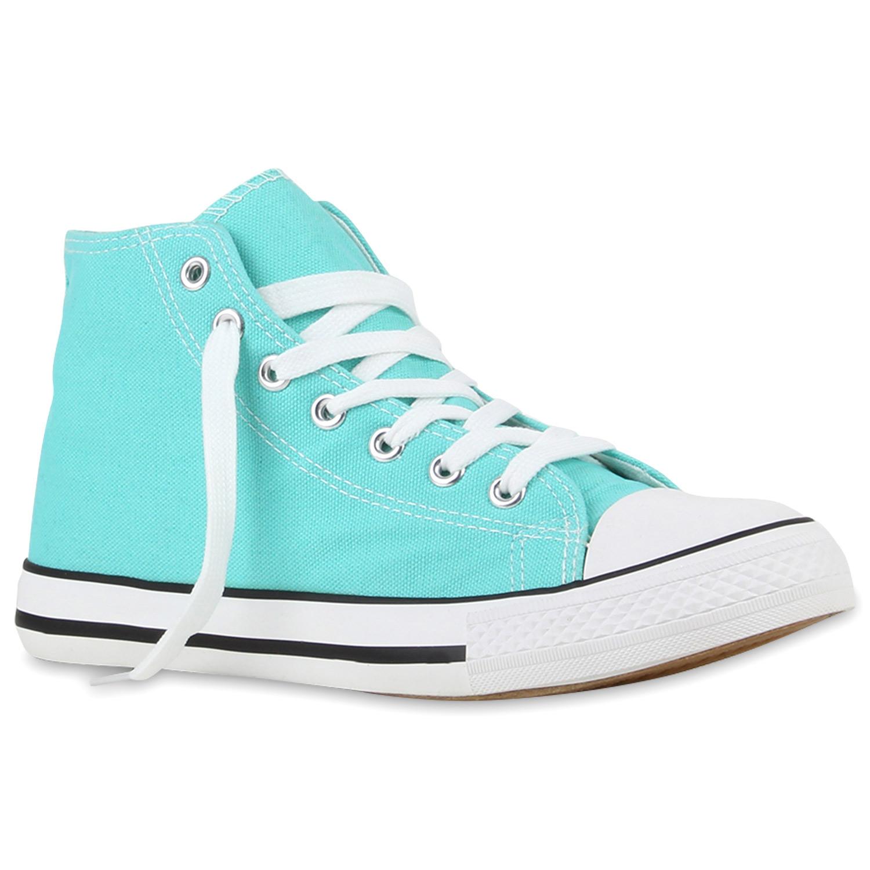 Damen Sneaker high - Türkis