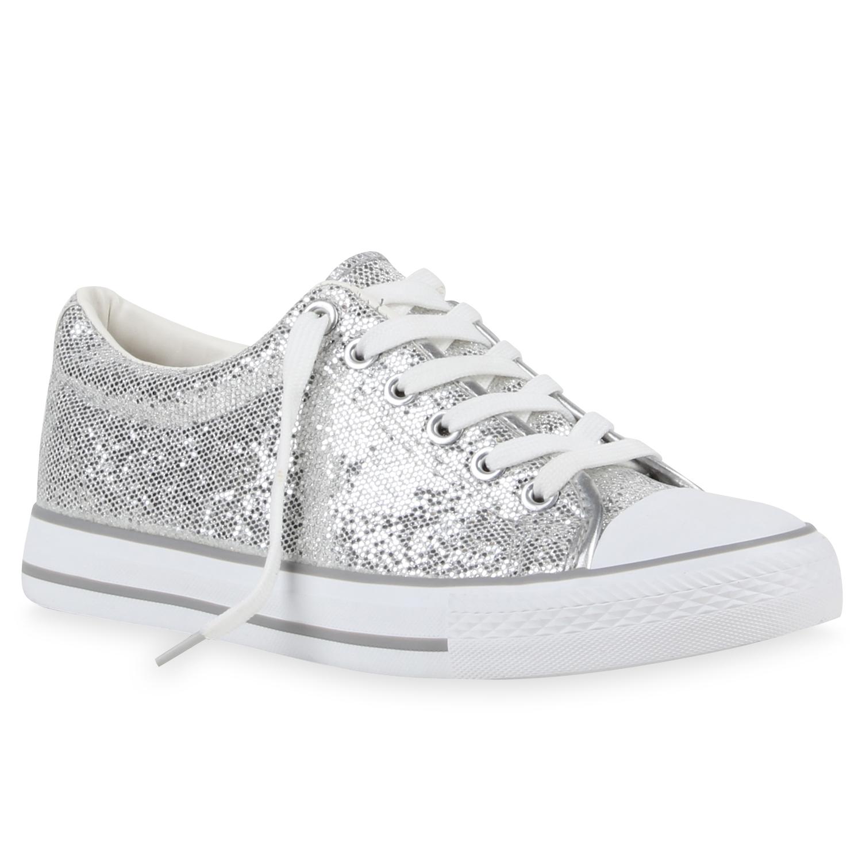 Damen Sneaker low Silber