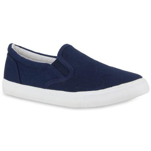 Damen Dunkelblau Sneaker Slip Ons Damen Sneaker RwS10S
