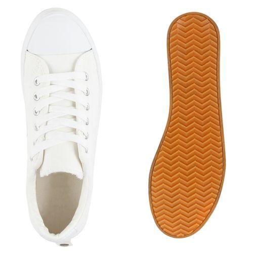 Sneaker Weiß Sneaker Sneaker Low Weiß Damen Damen Damen Weiß Low Sneaker Damen Low tpq1Fn4