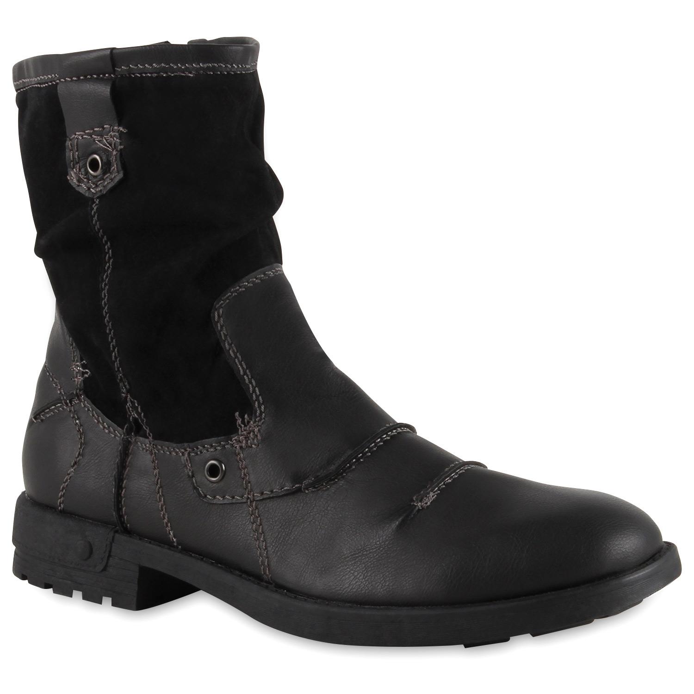 Herren Boots Biker Boots - Schwarz