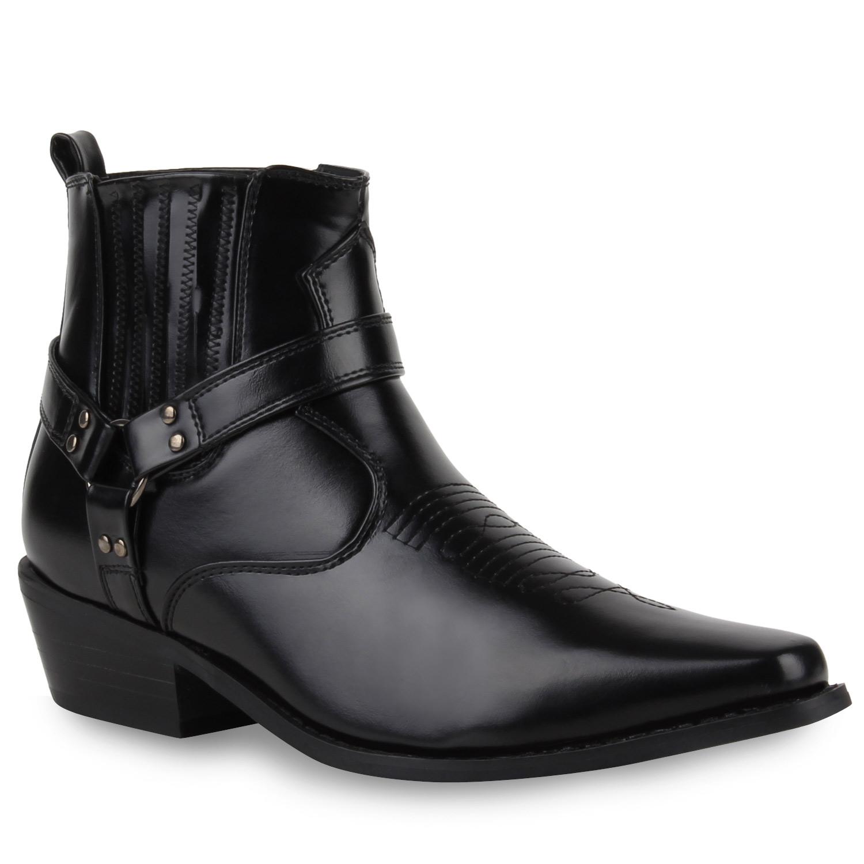 Damen Cowboy Boots - Schwarz