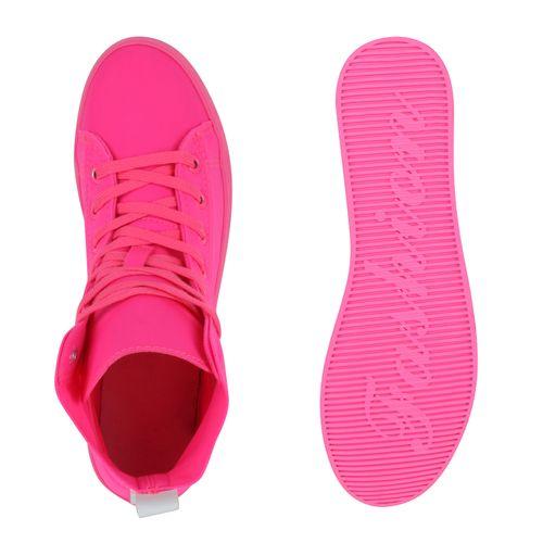 High Sneaker Damen Sneaker Damen Sneaker Neonpink High Neonpink High Damen PxPqfwgt