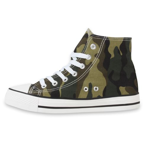 Damen Sneaker high - Camouflage Grün