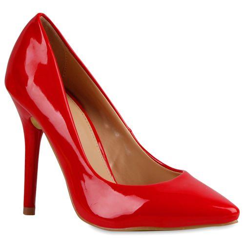 Damen Spitze Pumps - Rot