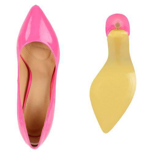 Damen Spitze Pumps - Pink
