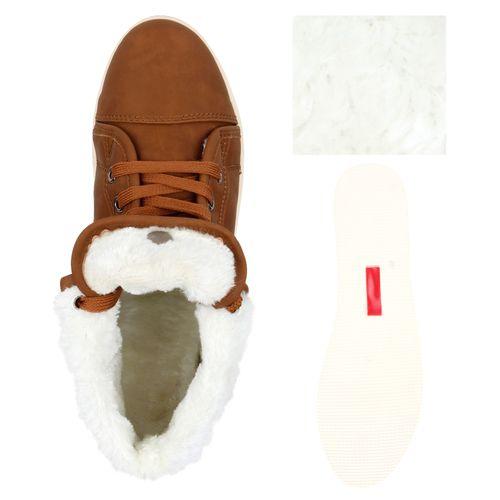 Damen Sneaker high - Braun