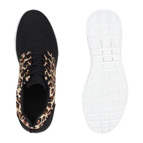 Damen Sportschuhe Laufschuhe - Braun Leopard