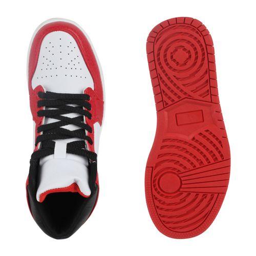Damen Sportschuhe Basketballschuhe - Weiß Rot
